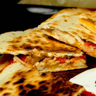 Chicken and Roasted Red Pepper Quesadillas
