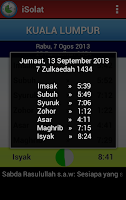 Screenshot of iSolat