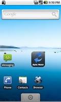 Screenshot of Sync Now Widget