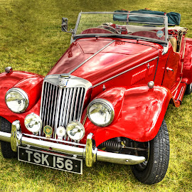 Little Red MG by Mick Tate - Transportation Automobiles ( car, red, ramsey, vintage, mg, sporster, classic )