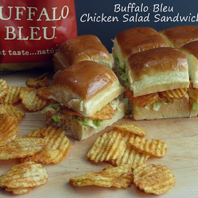 Buffalo Bleu Chicken Salad Sandwiches
