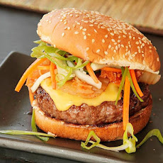 Sweet Barbecue Kim-cheese Burgers