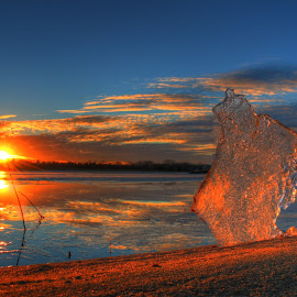 Ice beach by Casey Mitchell - Landscapes Sunsets & Sunrises