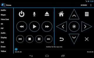 Screenshot of Panasonic Blu-ray Remote