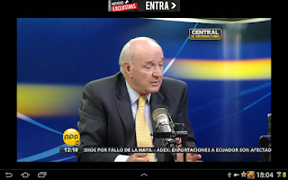 Screenshot of TV Peru Online