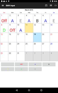 App Shift Work Calendar apk for kindle fire