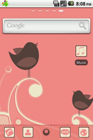 Cute Birdie GO Launcher Theme