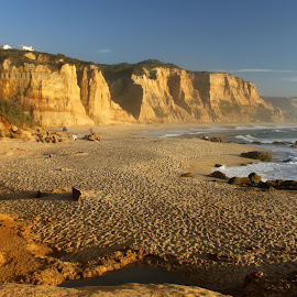 Gold beach by Gil Reis - Landscapes Beaches ( water, sand, beaches, cliffs, nature, summer, sea, travel, portugal )