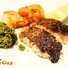 Low Fat Recipes – Roasted Sea Bass with Indian Coriander and Coconut Chutney