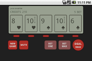 Screenshot of vPoker: Handheld Video Poker