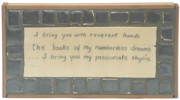 Poem, Pewter Mosaics <br> 8,3 x 15,3 in