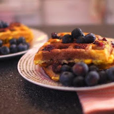 Jersey Summer Corn and Blueberry Waffles