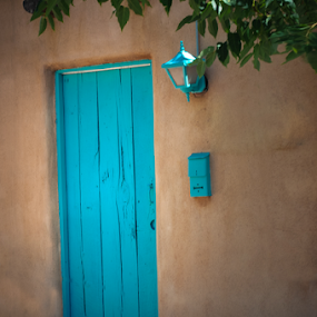 Turquoise Door and Decor by Kevin Pastores - Buildings & Architecture Architectural Detail ( decor, home, old, wood, turquoise, blue, background, architecture, design )