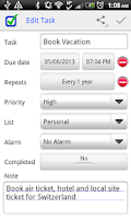 Screenshot of ToDo Next Task & To Do List