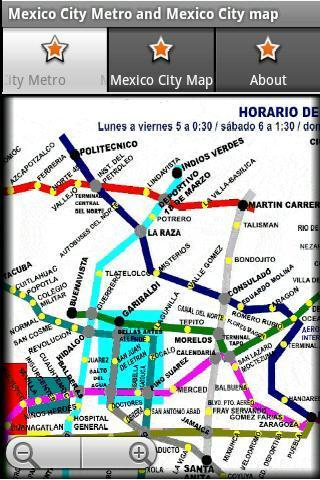 墨西哥城地鐵和城市地圖