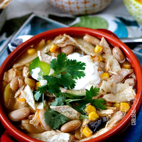 Salsa Verde Chicken Tortilla Soup