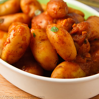 Fingerling Potatoes Braised with Smoked Paprika