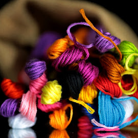 by Dipali S - Artistic Objects Other Objects ( color, colorful, background, fabric, yarn )