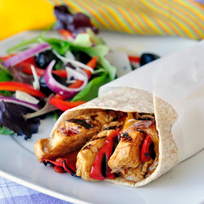 Orange Balsamic Chicken Wraps