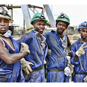 Men at Work by Morne van Tonder - People Portraits of Men