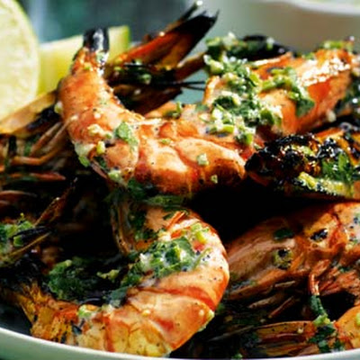 Tiger Prawn And Lime Dressing