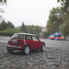 Mini in the city by Sinisa Plevnik - Artistic Objects Toys