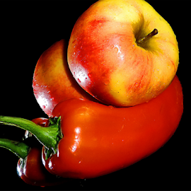 peppers with apple by LADOCKi Elvira - Food & Drink Fruits & Vegetables ( fruit )