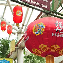 China Town by Yasser Abusen - City,  Street & Park  Markets & Shops ( market, red, d90, celebration, balloon, nikon, china )