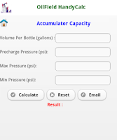 Screenshot of Oilfield HandyCalc (Lite)