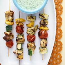 Yogurt-Basil Chicken Kabobs