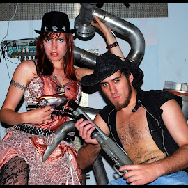 Steampunk Couple by Phil Grierson - People Couples ( girl, sci-fi, couple, steampunk, man )