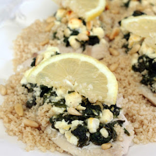 Chicken with Spinach, Feta and Pine Nuts