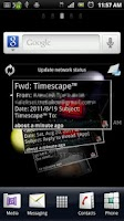 Screenshot of K-9 Mail Timescape™