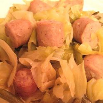 Brats, Cabbage and Green Bean Casserole