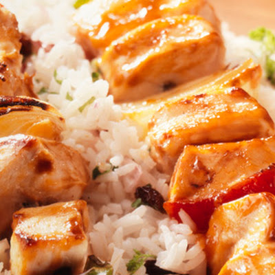 Chicken Kebab On Jewelled Rice