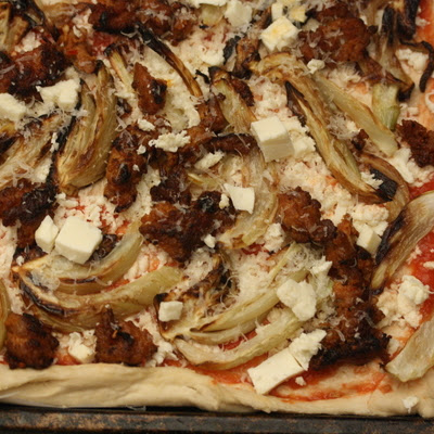 Spicy Sausage and Fennel Pizza
