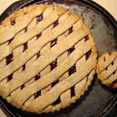 Martha Stewart's Linzer Tart With Lingonberry (Or Raspberry) Jam