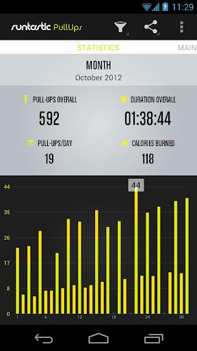 Runtastic Pull-ups Workout PRO - screenshot