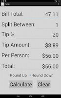 Screenshot of Tip Calc