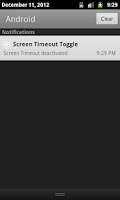 Screenshot of Screen Timeout Toggle