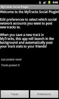 Screenshot of MyTracks Social Plugin