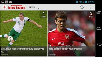 Screenshot of InjuryLeague.com