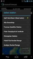 Screenshot of Auroral Forecast