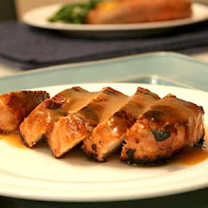 Five Spice Pork with Peach Glaze