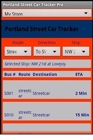 Portland StreetCar Tracker Pro