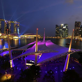 Marina Bay night view by Sam Chiang - City,  Street & Park  Night ( Lighting, moods, mood lighting )