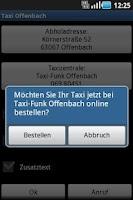 Screenshot of Taxi Offenbach