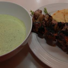 Greek Lamb Kebabs with Fresh Herb Salsa Verde