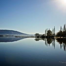 Reflection on a Lake by Ann-Marie Griffiths - Landscapes Waterscapes ( reflection, lakes, reflections, lake reflection, lake )