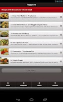 Screenshot of Happystove Recipes